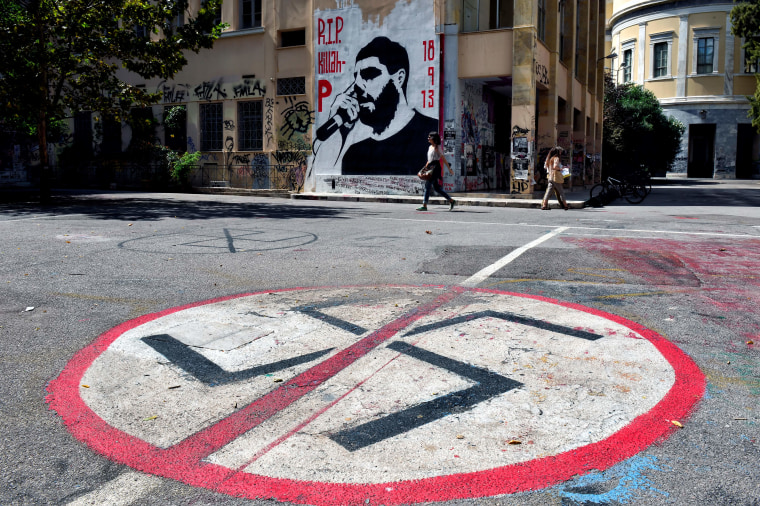 Leader of Greek neo-Nazi party convicted of running a criminal group after murder of anti-fascist rapper