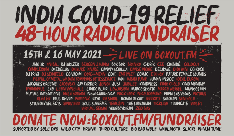 Jacques Greene, Leon Vynehall, and more to play 48-hour radio marathon for India COVID-19 relief