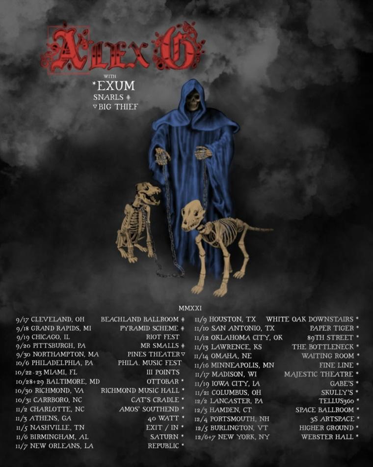Alex G shares 2021 tour dates